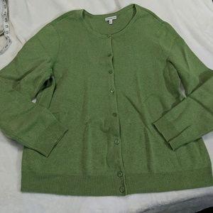 Croft & barrow green long sleeve cardigan
